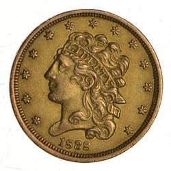 1838 $5.00 Classic Head Gold Half Eagle