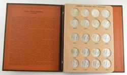 Lot (20) 1941-1947 Walking Liberty Half Dollars Dansco Coin Album
