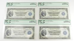 (4) Gem New 65PPQ 1918 $1 FR Bank Notes - Chicago - Consecutive - PCGS