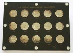 Short Silver Proof Set 1950-64 in Cap Plastic Holder