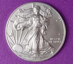 Mint Fresh BU 2019 Silver American Eagle $