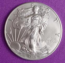 Mint Fresh BU 2019 Silver American Eagle $