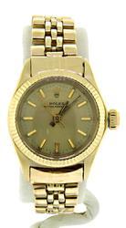 Rolex Oyster Perpetual Watch Gold Dial Jubilee Bracelet