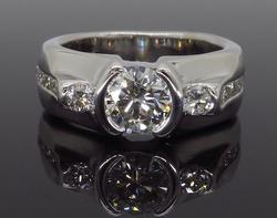 14K White Gold 1.47CTW Diamond Ring