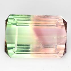Vivid! 6.04ct bi-color untreated Tourmaline