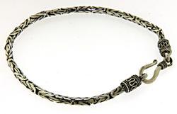 Sterling Silver Byzantine Bracelet