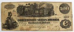 $100 Confederate States of America June 24 1862