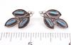 Genuine Turquoise Needlepoint Post Earrings, New