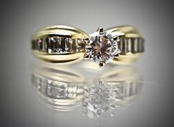 High Quality 1/2 Ct. 14K Engagement Style Ring