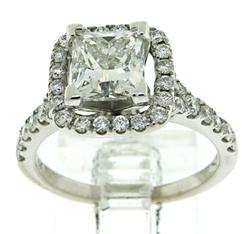 Elegant Princess Cut Diamond Engagement Ring