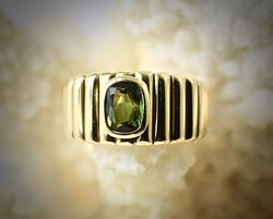 Lovely 18K Green Tourmaline Ring