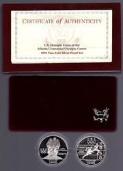1995 Proof Olympic 2-Piece Commemorative Set