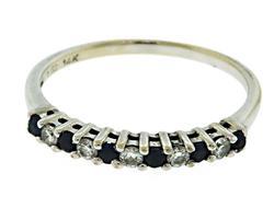 Nice Sapphire and Diamond Band Ring