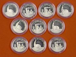 10 x 1986 50c Proof Liberty Commems