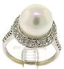 Magnificent Diamond & Pearl Ring in 18K