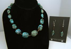 Matching Turquoise Necklace & Dangle Earrings