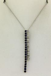 Amazing Blue Sapphire and Diamond Necklace