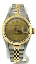 Rolex 2 Tone Datejust Ladies Watch