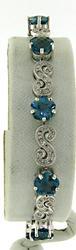 Stunning Blue Topaz and Diamond Bracelet