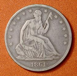 1861 50c, Civil War Era, Circ