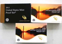 2011 1013 and 2014 US Proof Sets With Original Boxs