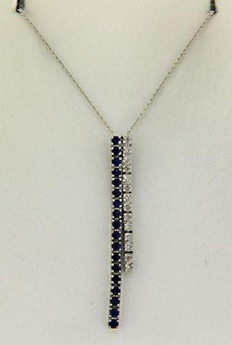 Amazing Blue Sapphire and Diamond Necklace