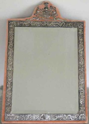 Monumental English 1885  Sterling Silver Mirror