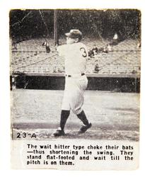 1932 Wheaties Babe Ruth Flip Card