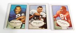 3 Vintage Bowman Gum Football Cards