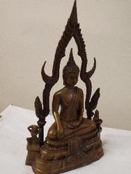 Antique Asian Buddha Meditating on Peace and Nirvana