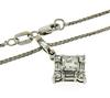 Princess Cut Center Diamond Necklace