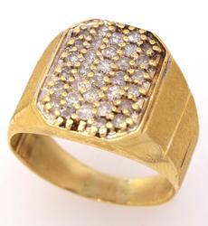 Mens Diamond Cluster Ring, Size 9.25