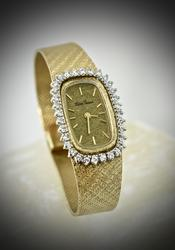 Beautiful 14K and Diamonds Lucien Piccard Watch
