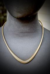 Art Deco 18K Flexible Designer V Collar