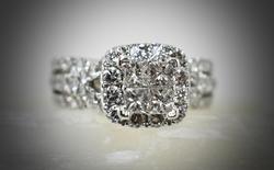 Sparkling 2ct.tw. Diamond 14K Engagement Ring