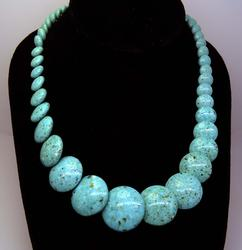 Mexican Turquoise Disc Shape Necklace, Navajo