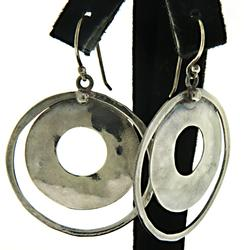 Silpada Double Circle Earrings