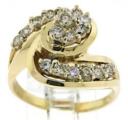 Gorgeous Diamond Swirl Ring