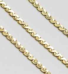 Shiny 14kt Gold Serpentine Bracelet