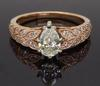 14K Rose Gold Shane & Co Engagement Ring
