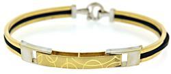 Simple 18kt Two Tone Bangle Bracelet