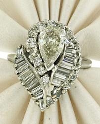 Stunning Vintage Diamond Ring Pendant