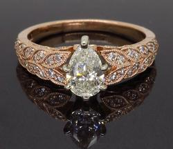 14K Rose Gold Shane & Co Engagement Ring