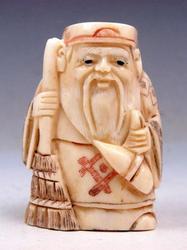 Hand Carved Bone Detailed Japan Netsuke Sculpture