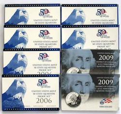 2 Each State Quarter Proof Sets 2005 2006 2008 & 2009