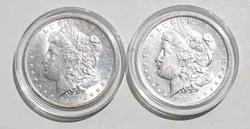 1881 O Very Near Unc And 1904 O Unc Frosty White Morgan Dollars
