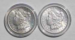 1881 S Unc And 1885 Very Near Unc Morgan Dollars