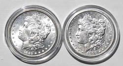1889 Unc And 1900 Very Near Unc Frosty White Morgan Dollars
