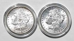 1887 And 1898 O Unc Frosty White Morgan Dollars