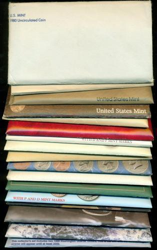Complete Run of 17 US Mint Sets: 1980-1998